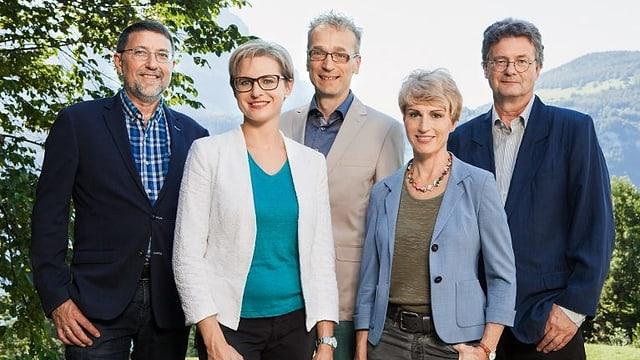 Die neue Gesichter bei «Wort zum Sonntag» posieren fürs Foto.