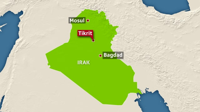 Karte Iraks