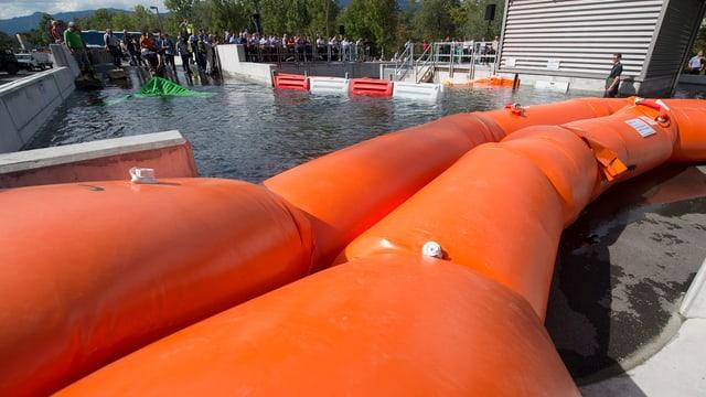 Überflutungsanlage in Wangen an der Aare.