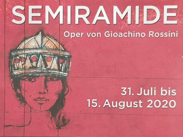 Placar da'l'opera Semiramide che vegn preschentada a Sursaissa.