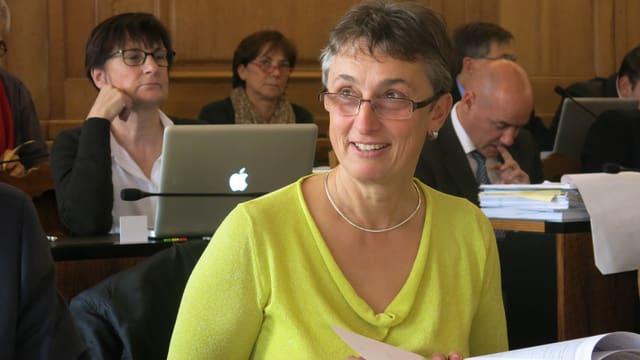 Marie Garnier sitzt im Parlament.