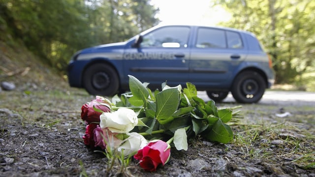 Das Auto des Paares am Tatort