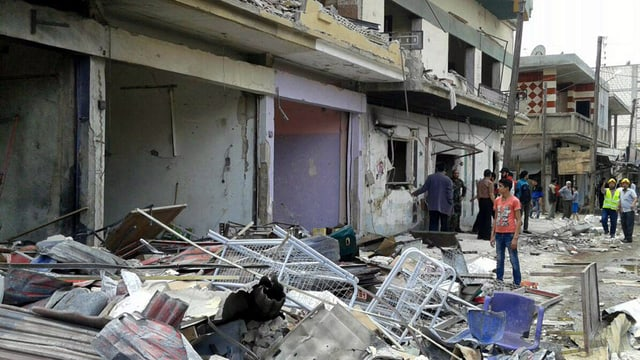 quartier destruì ad Aleppo