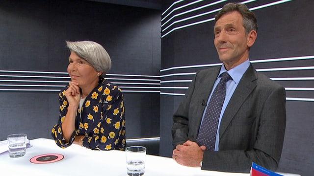 Christa Tobler und Bernhard Ehrenzeller am Expertentisch.
