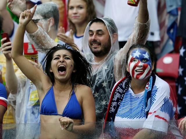 US-Fussballfans 2014 an der Weltmeisterschaft
