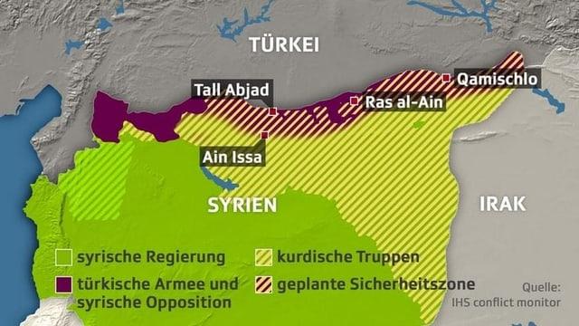 Um diese Gebiete geht es in Nordsyrien.