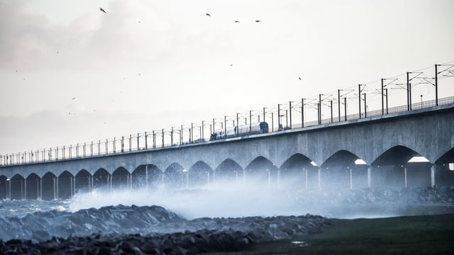 Die Brücke über den Grossen Belt.