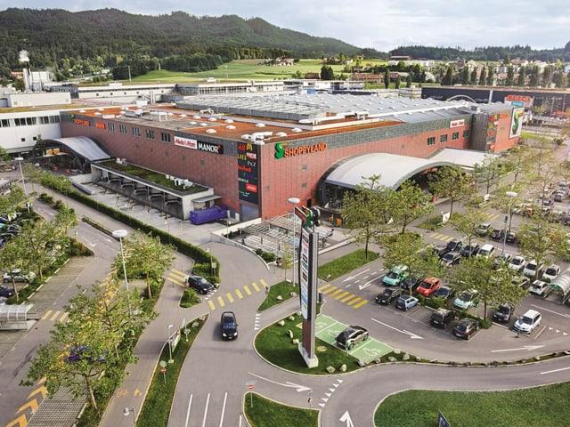 Das Einkaufszentrum Shoppyland 2015 aus der Luft.