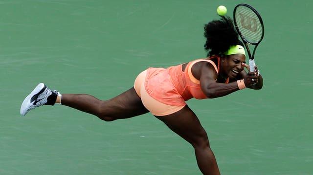 Video «Serena Williams an den US Open» abspielen