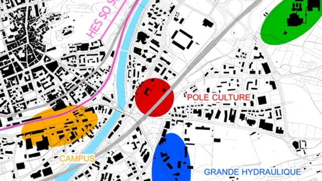 Plan der ETH Lausanne-Zweigstelle in Sion.