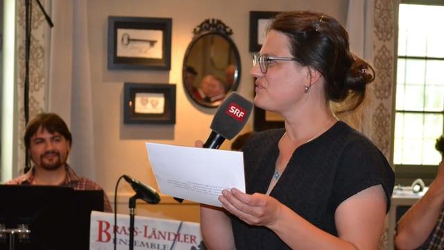Moderatorin Franziska Haller