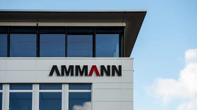 Gebäude mit Logo der Ammann-Gruppe