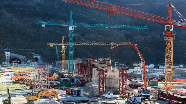 Baustelle Neat-Basistunnel Monte Ceneri