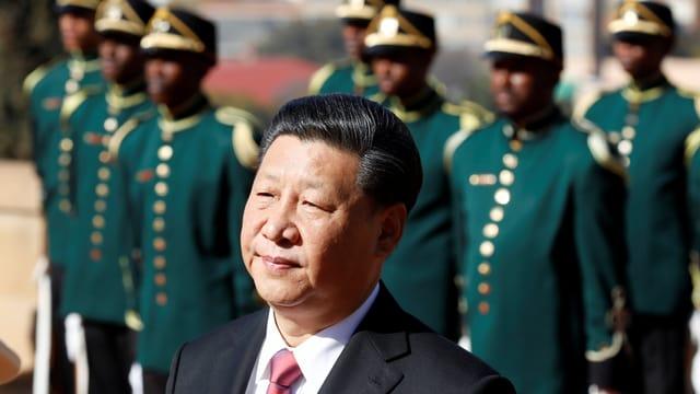 Der chinesische Präsident und südafrikanische Garden