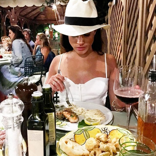 Meghan Markle am Essen