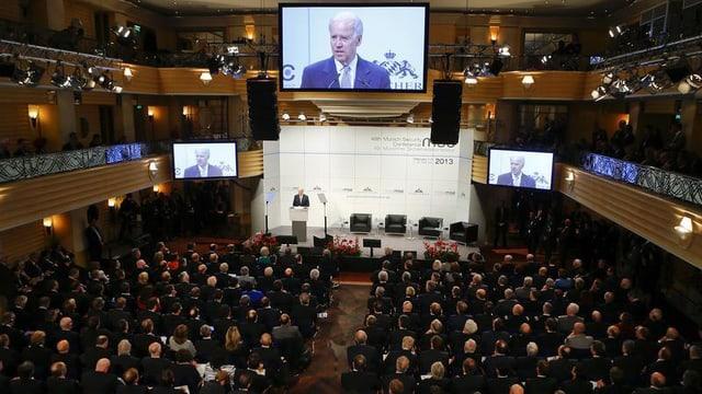 US-Vizepräsident Joe Biden bei seiner Rede in München.