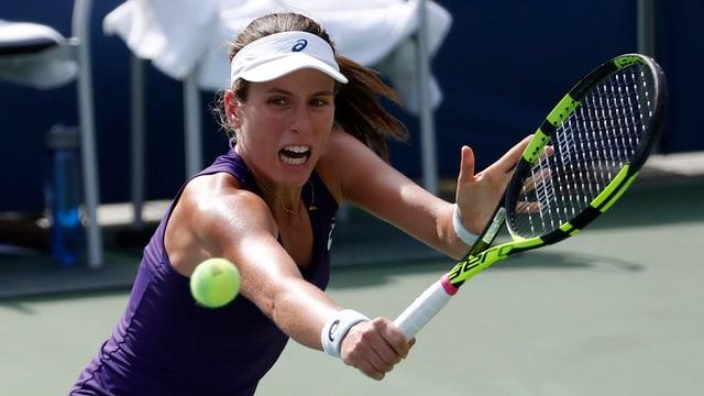 Belinda Bencic è crudada ora al US Open en la terza runda.