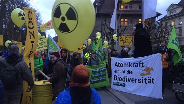 Eine Demonstration mit Demonstrationen