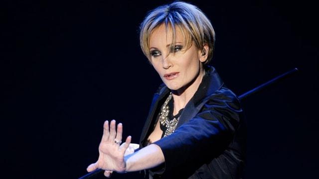 Patricia Kaas auf der Bühne.