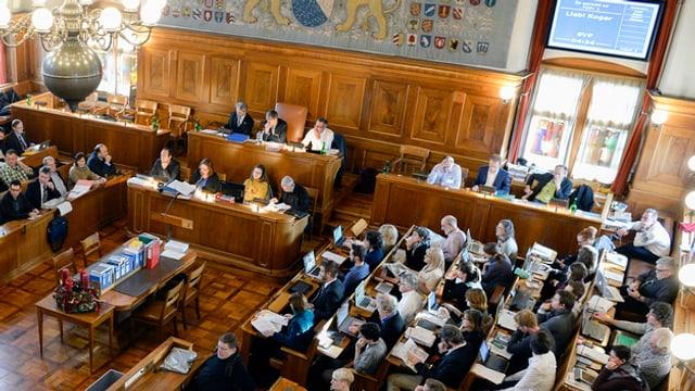 Das Stadtzürcher Parlament tagt im Ratsaal