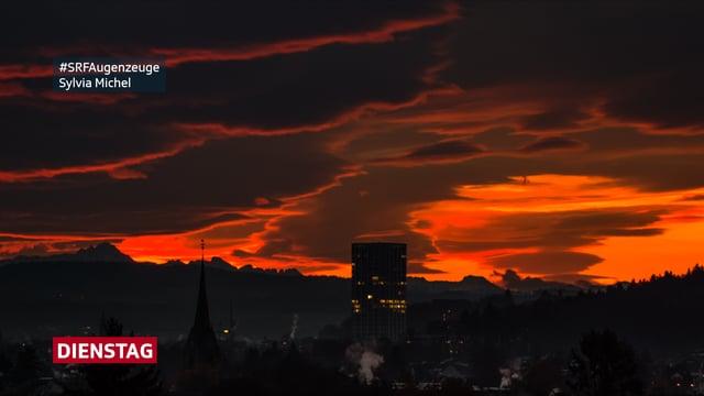 Morgenrot über den Dächern von Winterthur - Nummer 2