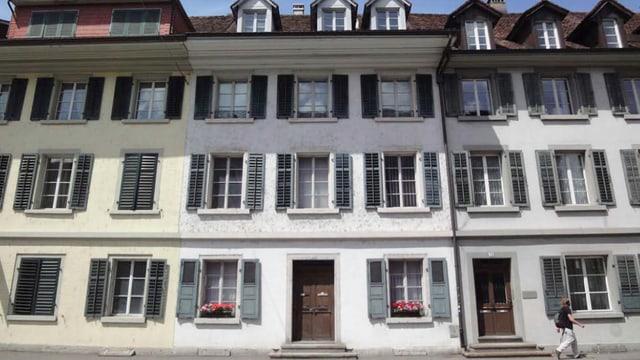 Vordere Fassade des Hauses an der Laurenzenvorstadt.