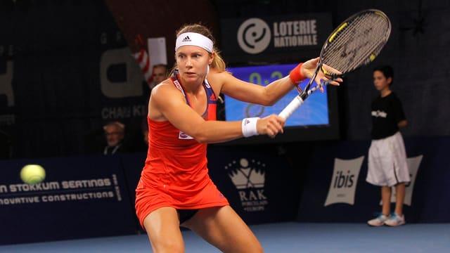 Stefanie Vögele agierte gegen Galina Woskobojewa oft unglücklich.