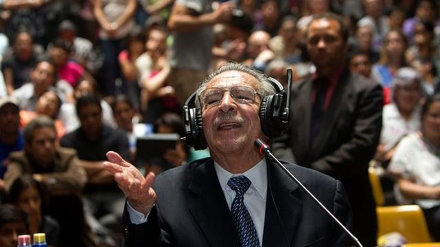Ríos Montt bei einer Befragung vor Gericht am 9. Mai 2013.