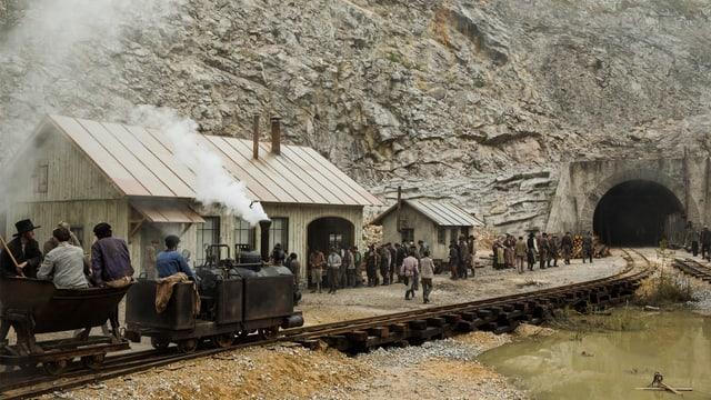 Szene aus Gotthard: Tunneleingang in Göschenen