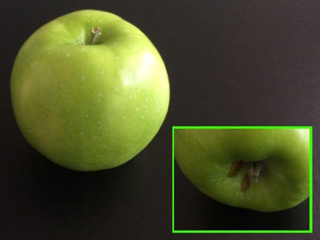 Apfel mit kleinem Makel.