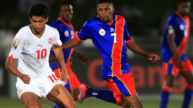 Ouassami Darragi in einem Spiel mit der Nationalmannschaft.