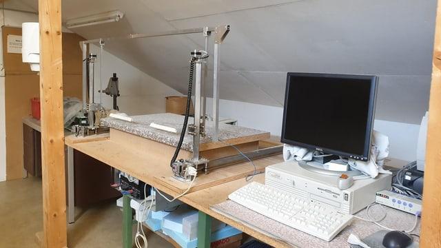 Computer und Schneidmaschine