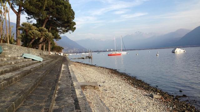 Im Süden, wie hier am Lago Maggiore, ist es seit einem Vierteljahr extrem trocken!