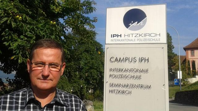 Ferdinand Frehner, Ausbildungsexperte der interkantonalen Polizeischule Hitzkirch.