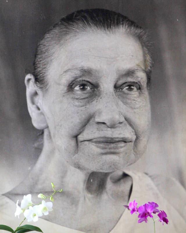 Porträt einer älteren Frau.
