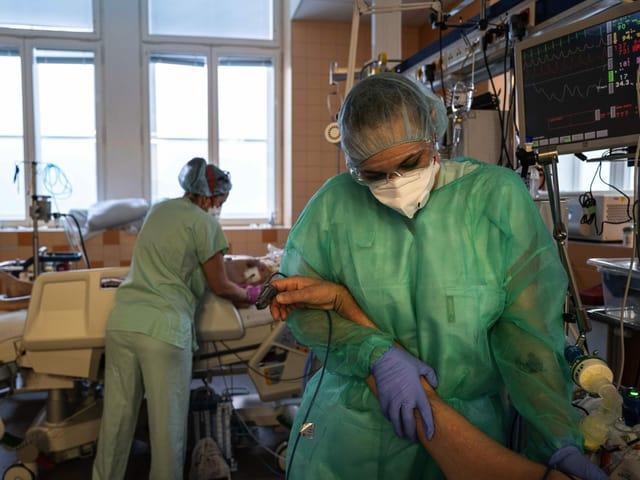 Spital in Prag mit Covid-Patienten