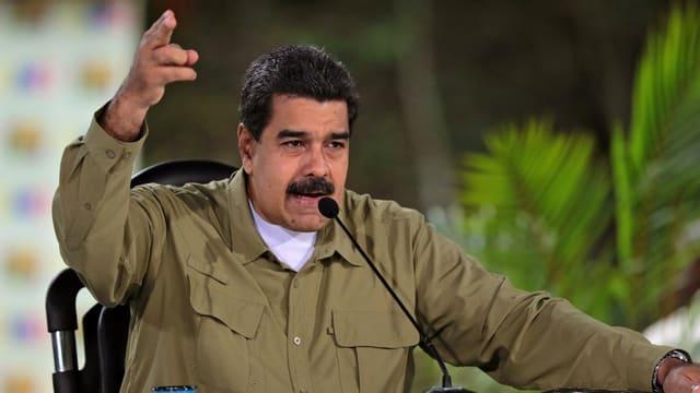 Purtret da Nicolas Maduro.