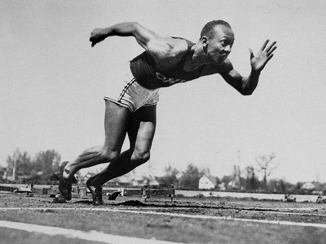 Jesse Owens sprintet