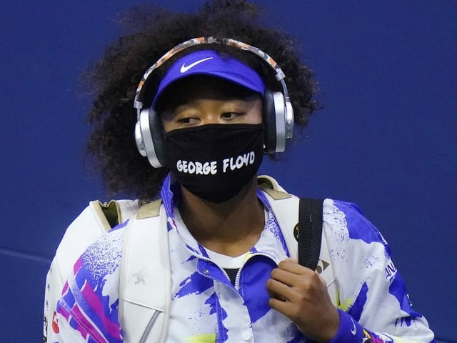 Naomi Osaka mit der George-Floyd-Maske.