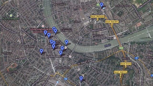 Karte von Basel