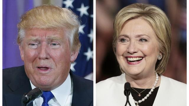 Ils dus favurits en il cumbat per il presidi american: Donald Trump e Hilary Clinton.
