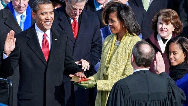 Barack Obama bei der Vereidigung 2009.