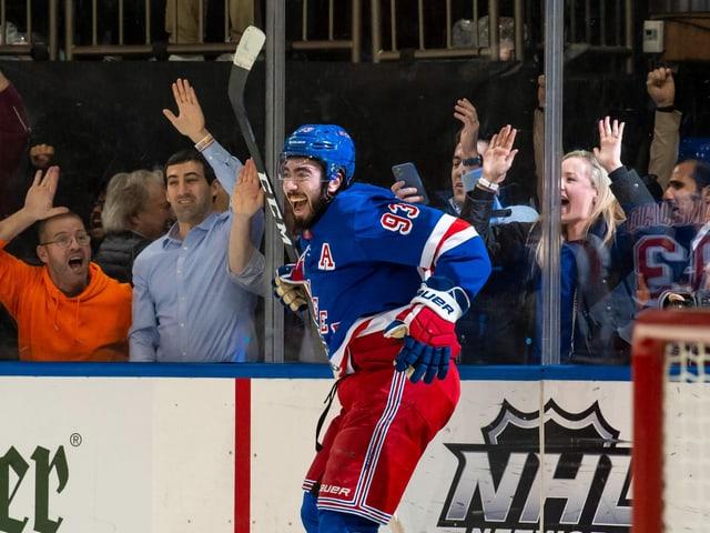Mika Zibanejad von den New York Rangers.