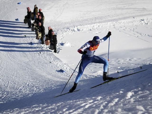 Dario Cologna bei der Tour de Ski im Val Müstair.