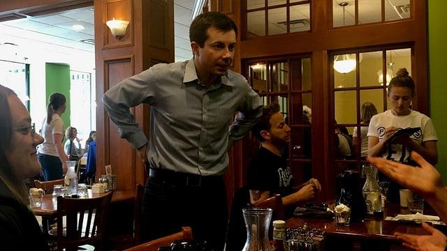 Der Präsidentschaftskandidat im Restaurant