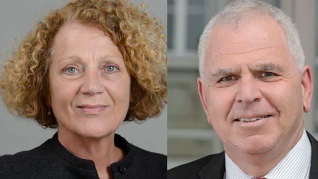 Das neue SKOS-Präsidium: Therese Frösch und Felix Wolffers.