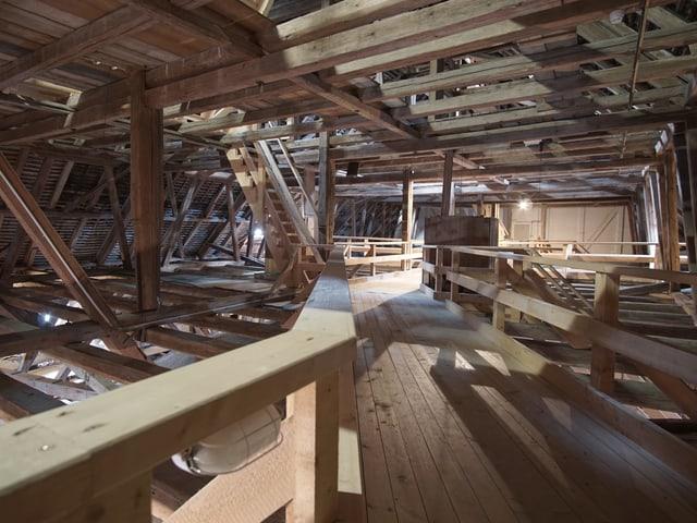 Der Dachstuhl der St. Galler Stiftskirche.