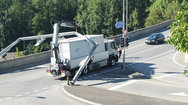 Lastwagenunfall.