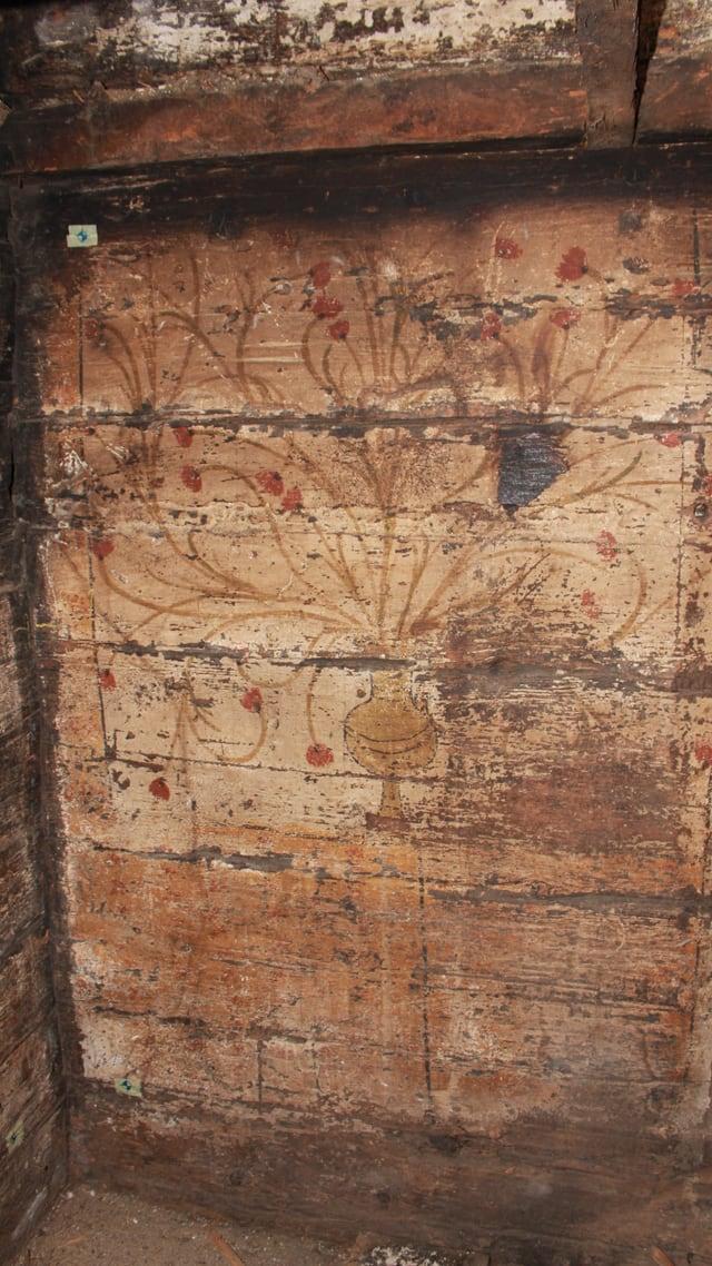 Wandmalereien im Innern der beiden Schwyzer Häuser.