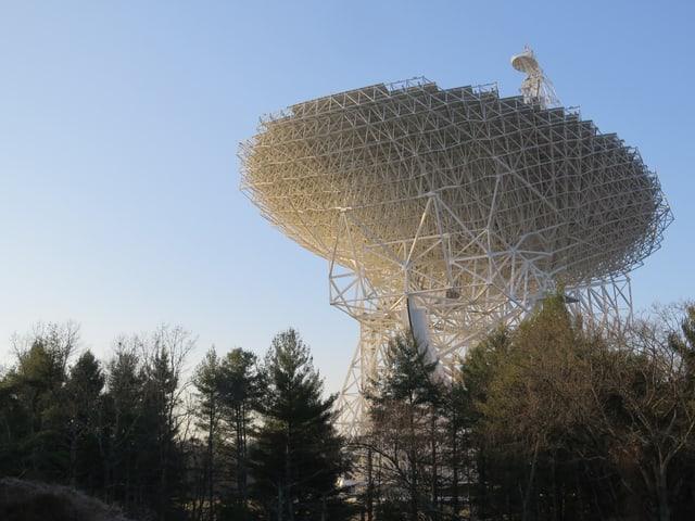 Das Bild zeigt ein grosses Teleskop.